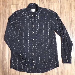 FRANK & OAK / L / Button Down Geometric Shirt